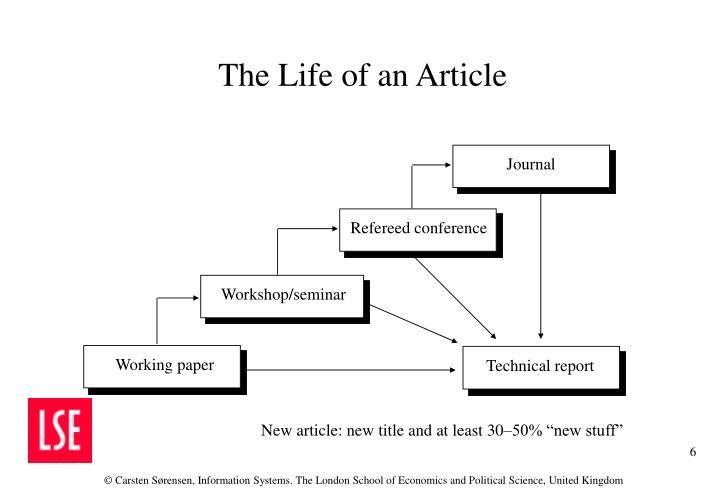 The Life of an Article