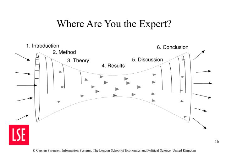 Where Are You the Expert?