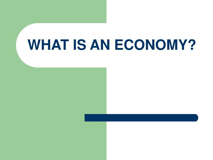 What is an economy
