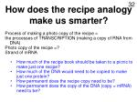 how does the recipe analogy make us smarter16