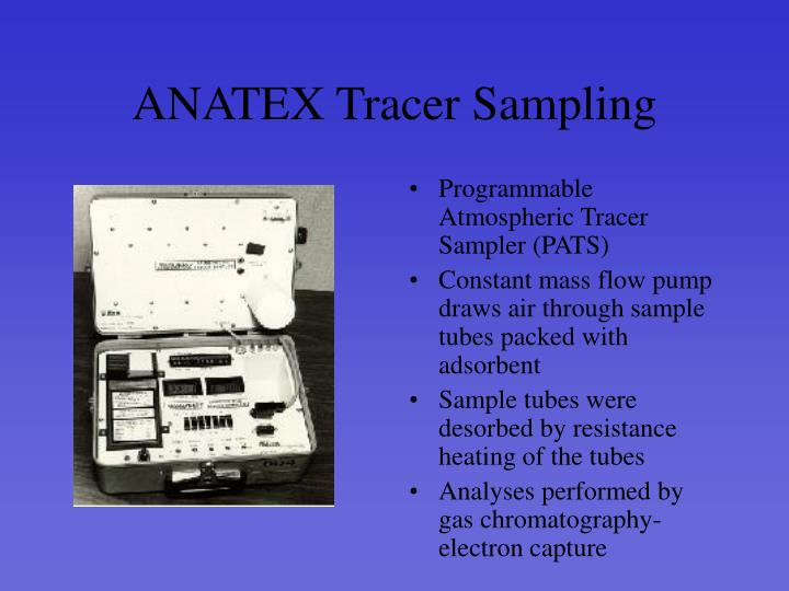 ANATEX Tracer Sampling