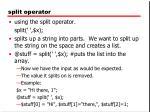 split operator