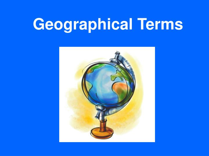 geographical terms n.