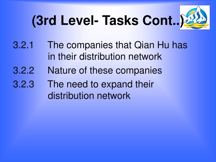 (3rd Level- Tasks Cont..)