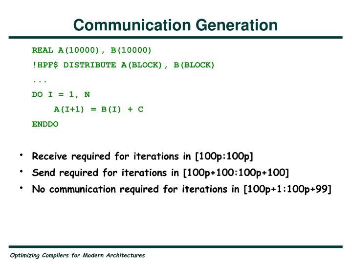 Communication Generation