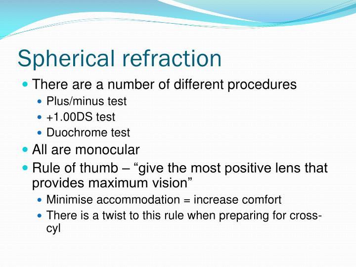 Spherical refraction