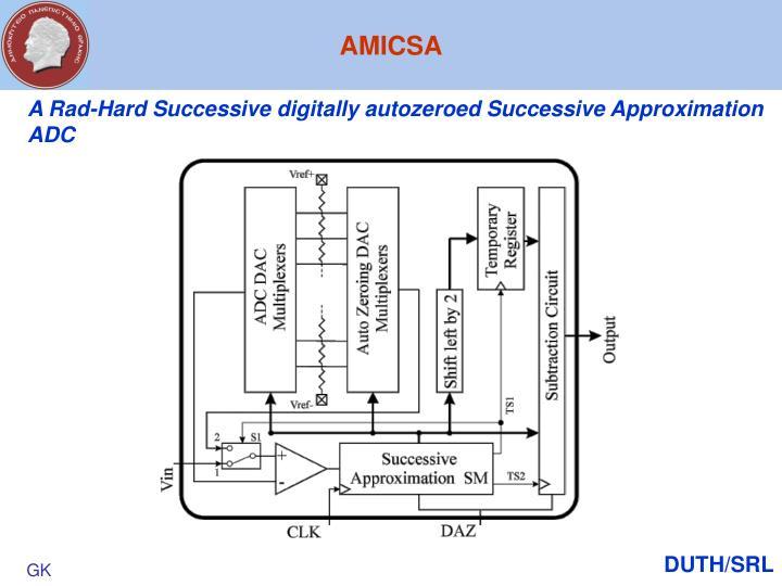 A Rad-Hard Successive digitally autozeroed Successive Approximation ADC