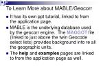 to learn more about mable geocorr