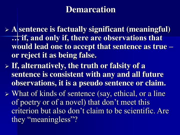 Demarcation