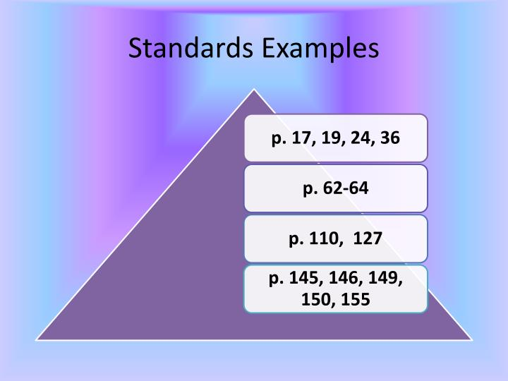Standards Examples