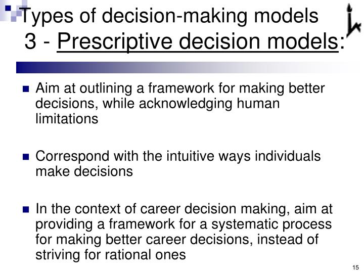 Types of decision-making models