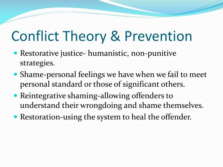 Conflict Theory & Prevention