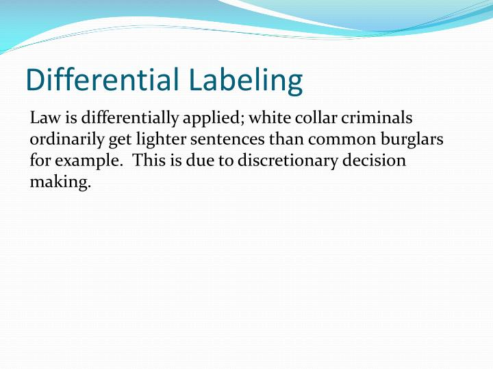 Differential Labeling