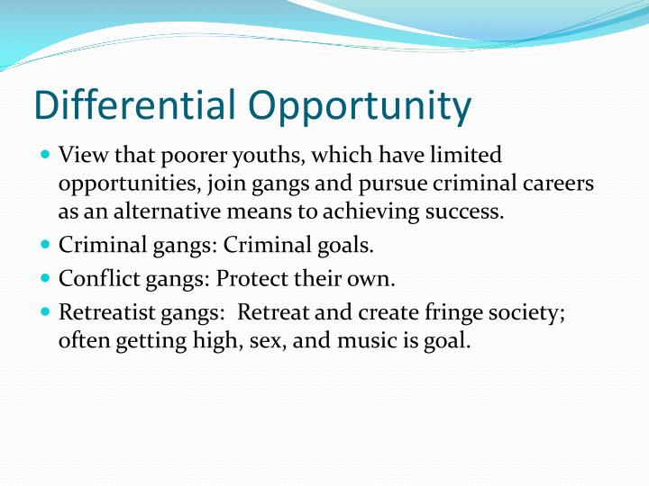 Differential Opportunity