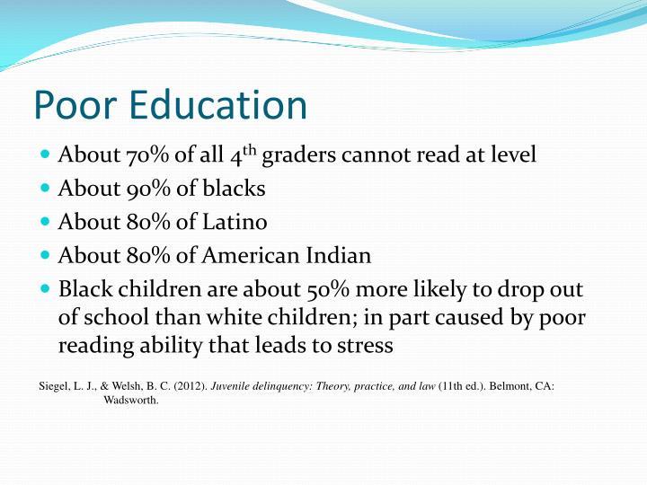 Poor Education
