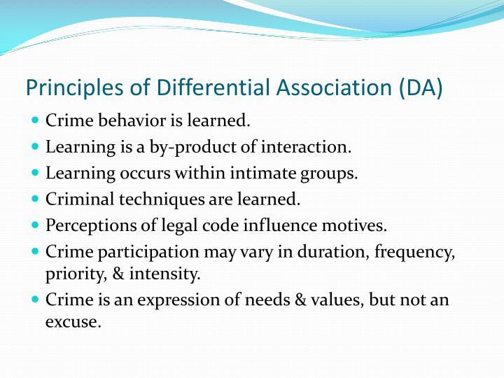 Principles of Differential Association (DA)