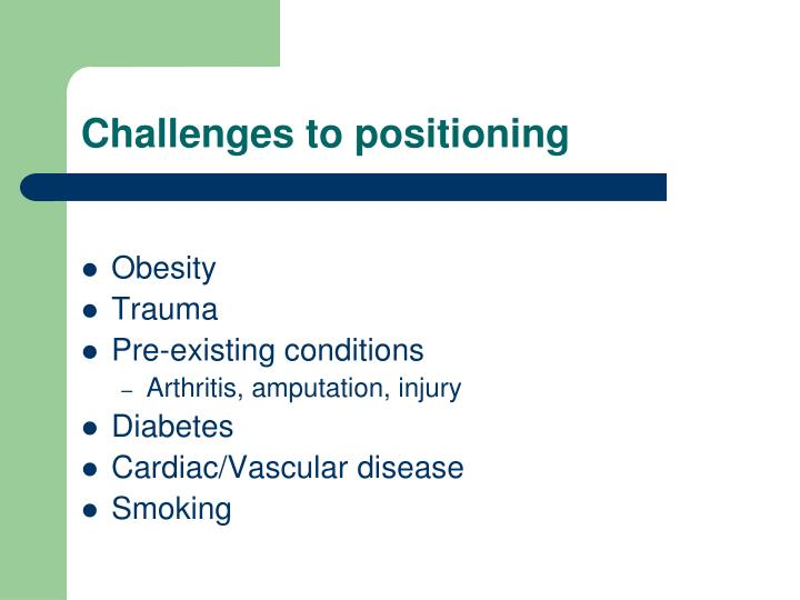 Challenges to positioning