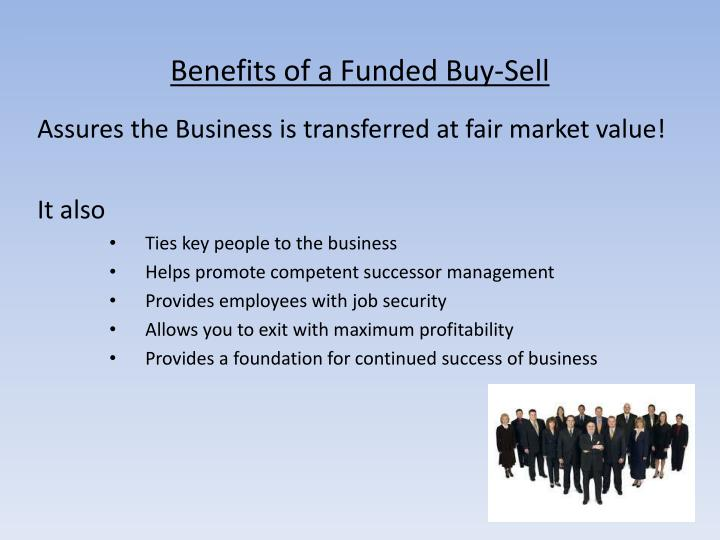 Benefits of a Funded Buy-Sell