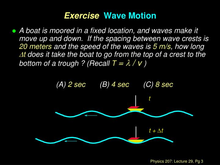Exercise wave motion