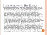 connections to his books