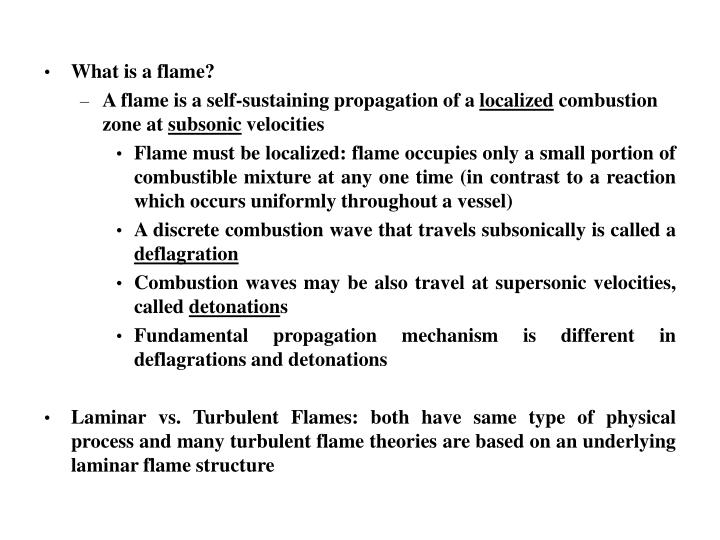 What is a flame?