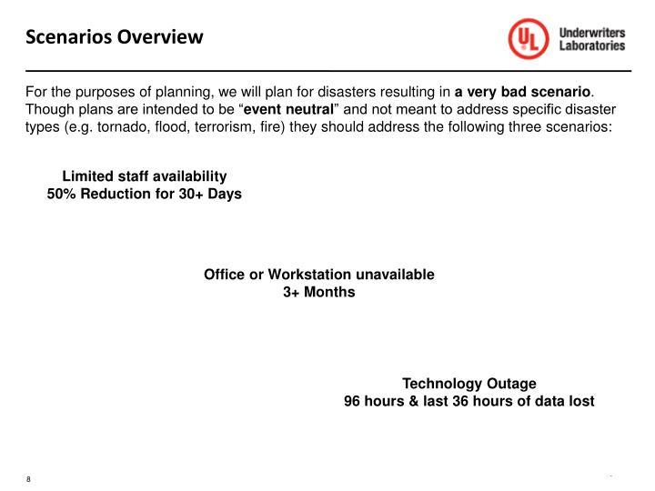 Scenarios Overview