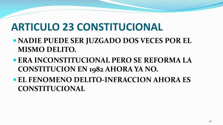 ARTICULO 23 CONSTITUCIONAL
