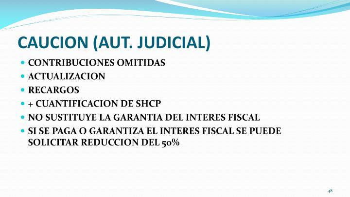 CAUCION (AUT. JUDICIAL)