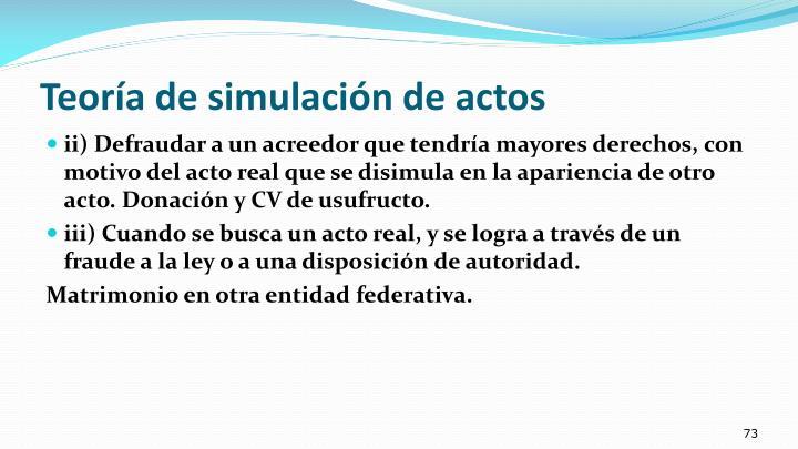 Teoría de simulación de actos