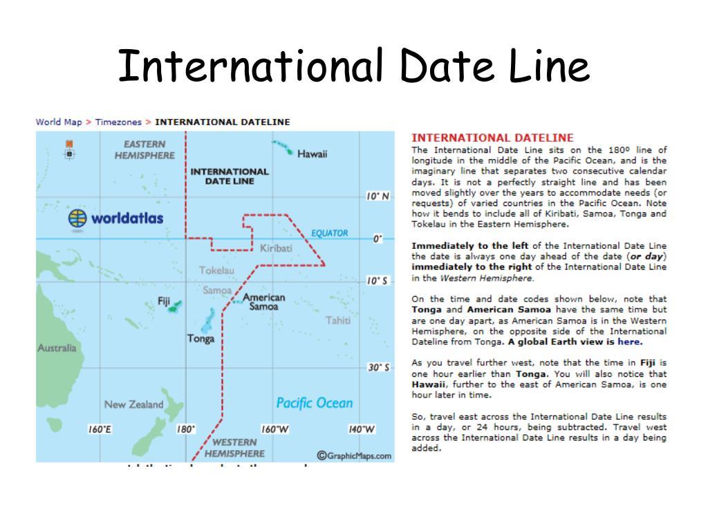 Ppt International Date Line Powerpoint Presentation Free Download Id 3205579