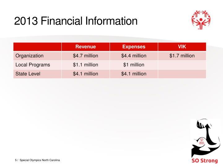 2013 Financial Information
