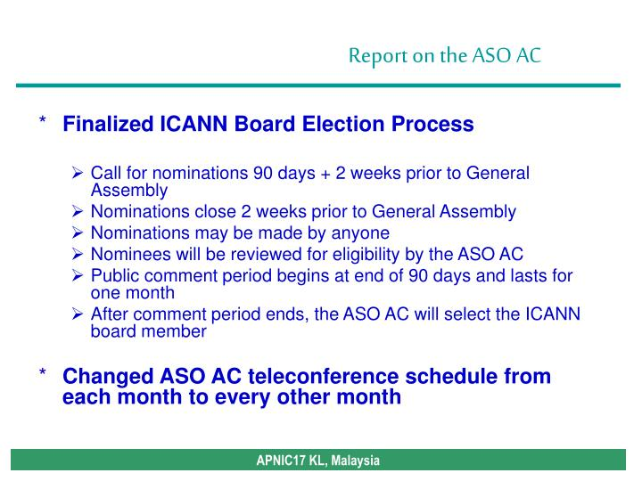 Finalized ICANN Board Election Process