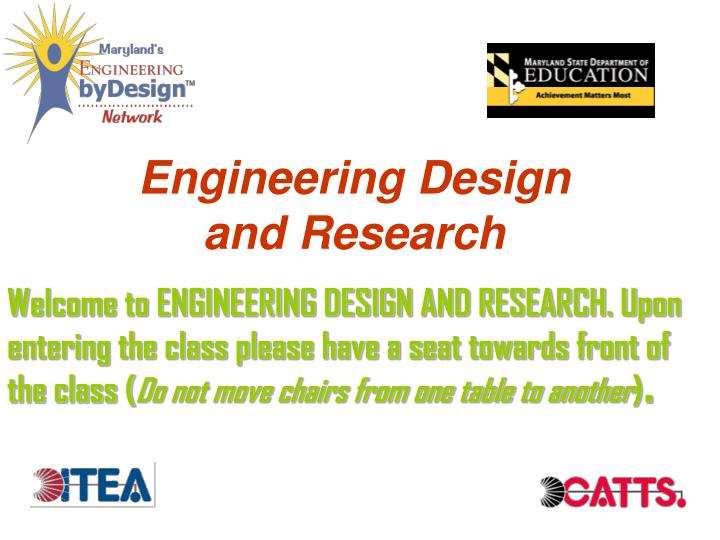 engineering design and research n.