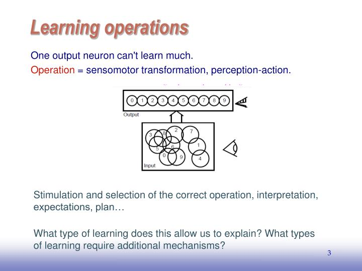 Learning operations