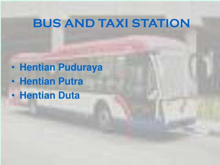 BUS AND TAXI STATION