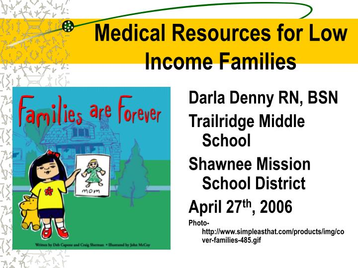 medical resources for low income families n.