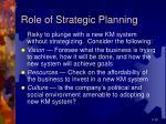 role of strategic planning