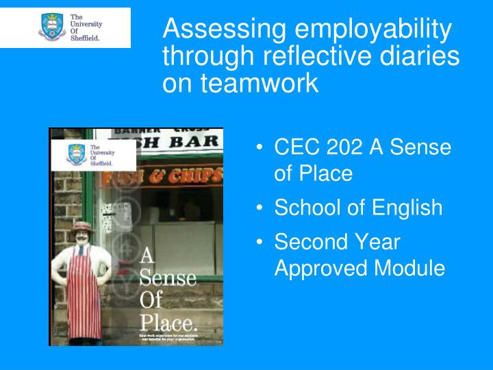 Assessing employability through reflective diaries on teamwork