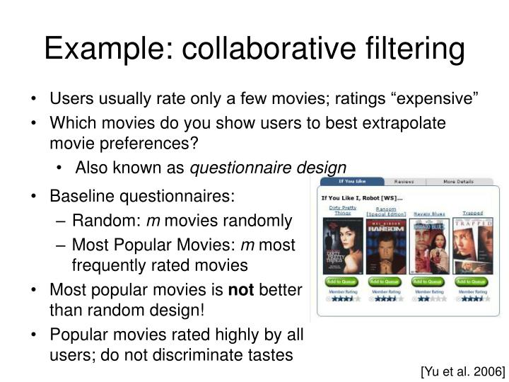 Example: collaborative filtering