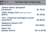 the real cost of recycling