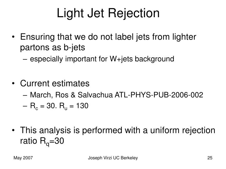 Light Jet Rejection