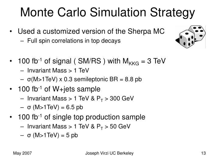 Monte Carlo Simulation Strategy
