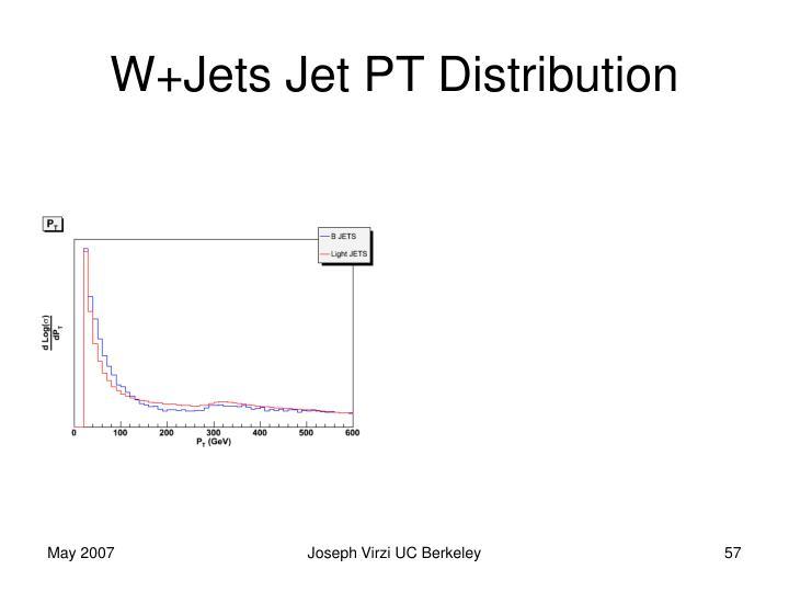 W+Jets Jet PT Distribution