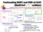 contrasting susy and ued at clic multi tev collider
