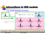 interactions in ued models