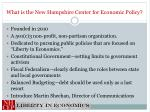 what is the new hampshire center for economic policy