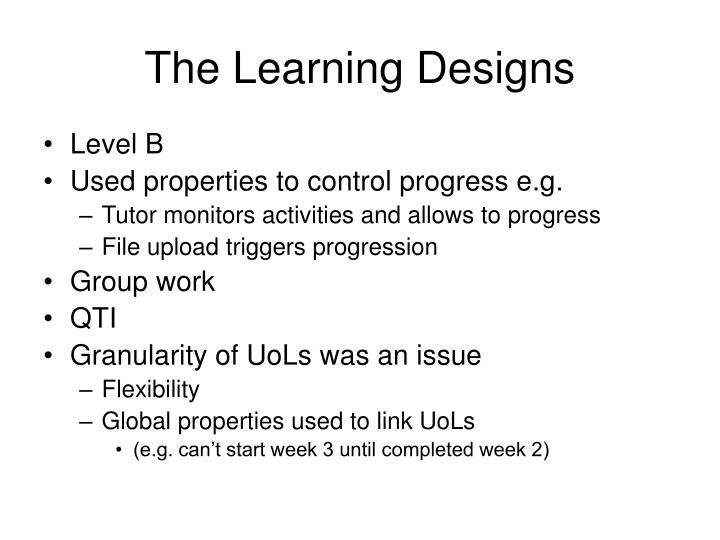The Learning Designs