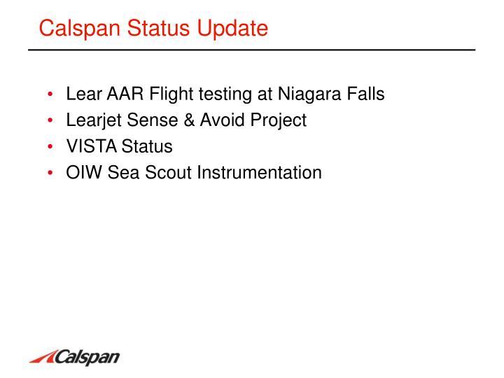 Calspan status update1