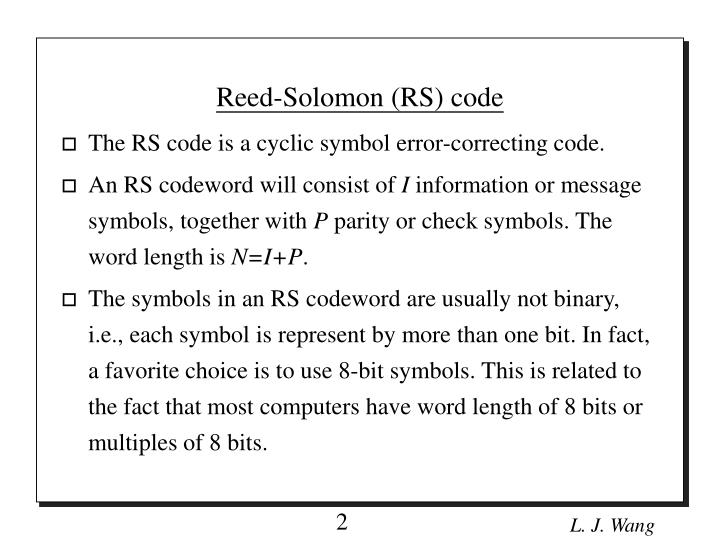 lmplementation of reed solman Design and implementation of reed solomon code used on smsa in fpga - download as pdf file (pdf), text file (txt) or read online.