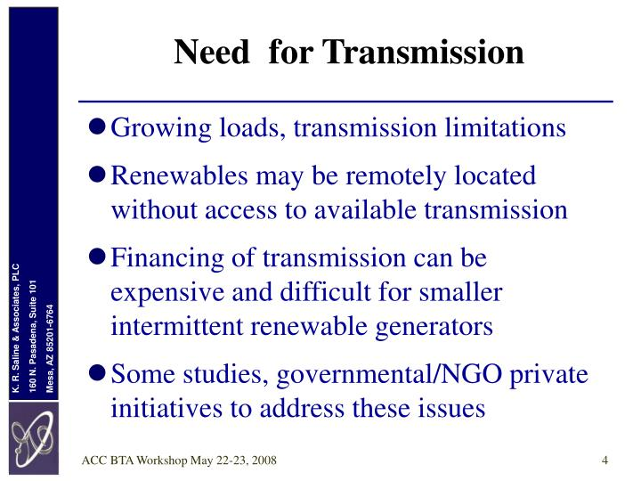 Need  for Transmission